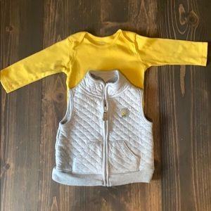 #91 🌺 Carters shirt & vest